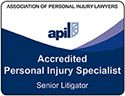APIL Accredited Personal Injury Senior Litigator logo