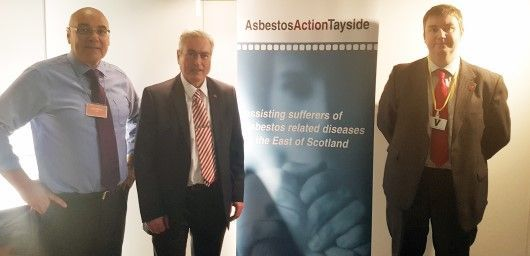 John Fearn Asbestos Action, Iain Gray MSP & Mark Nicholson Digby Brown