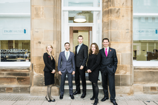 Digby Brown Ayr office and personal injury solicitors, headed by Damian White