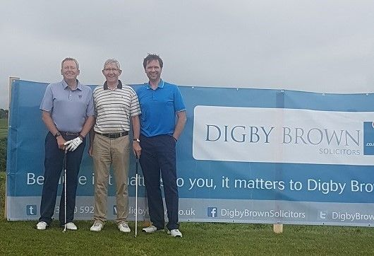 Damian White, head of Digby Brown's Ayr office, attends the Ayrshire Hospice Golf Day with some of our CPIN partners.