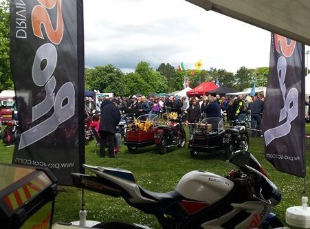 Displays at Bikes in the Park 2014