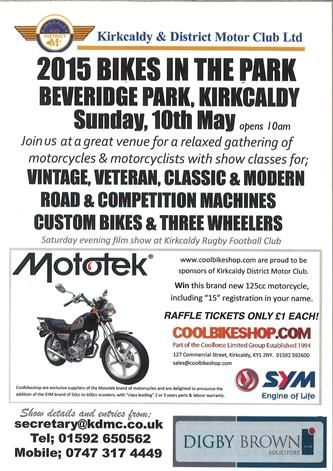 2015 bikes in the park kirkcaldy flyer