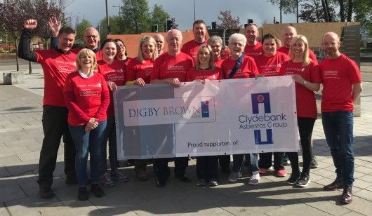 Solicitors at Digby Brown walk 20 miles for Asbestos Support Group