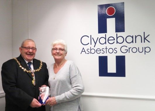 Clydebank Asbestos Group new office opening Lord Provost Glasgow with Digby Brown