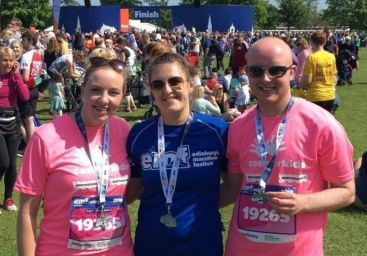Digby Brown's Aberdeen team take on the Edinburgh Marathon Festival Hairy Haggis Relay