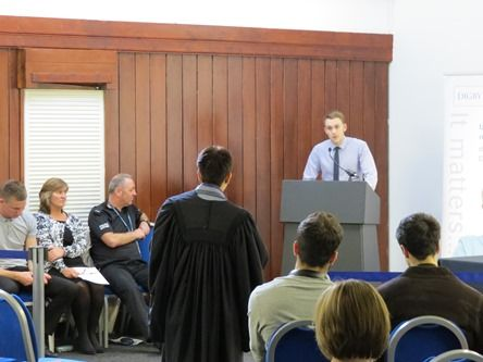 Edinburgh Young Drivers Mock Court 2014 - cross examination of witness