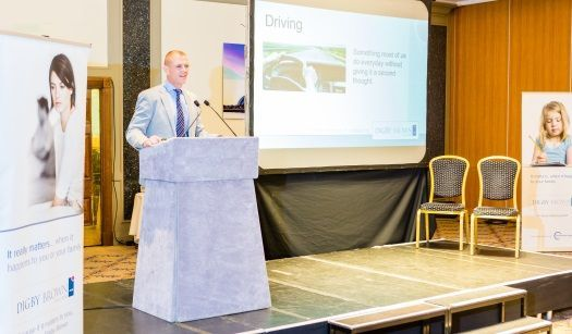 Chris Stewart Partner at Digby Brown speaking about driving after a brain injury at Head Injury Information Day Glasgow 2017