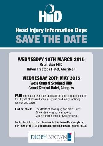 Head Injury Information Day (HiiD) 2015 event Dates