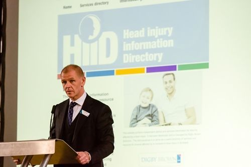 Chris Stewart, Head of Digby Brown's Serious Injury Department, discussing the new website www.hiid.org.uk