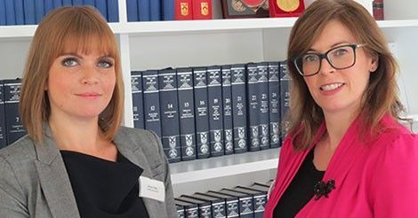 Kim Leslie, specialist Abuse Lawyer at Digby Brown with Elinor Owe from the Scottish Government