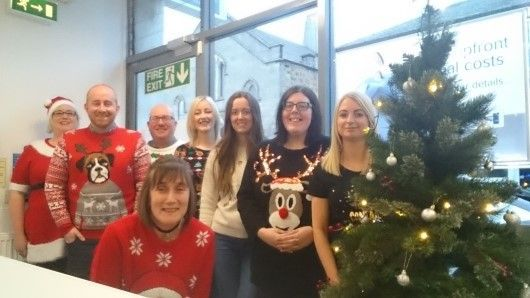 Christmas Jumper Digby Brown Kirkcaldy Frontline Fife