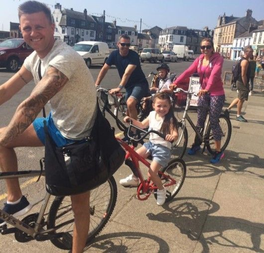 Millport family cycle for Finding Your Feet 2016