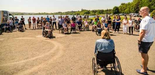 Spinal Injuries Scotland (SIS) BBQ and Activities Day 2018 Group picture
