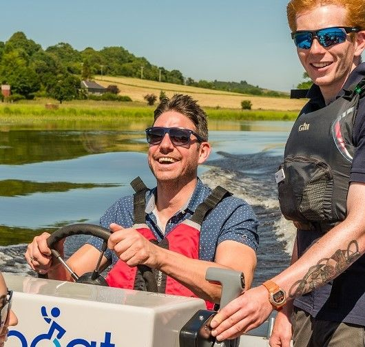 Spinal injury patient gets the opportunity to drive one of the speed boats