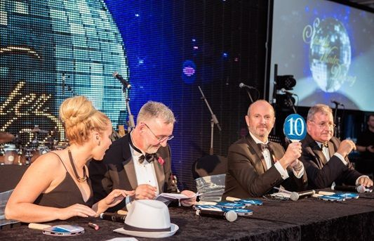 Comedian Fred MacAulay on judging panel for 'Strictly Winter Dancing' at Winter Dinner Dance 2015