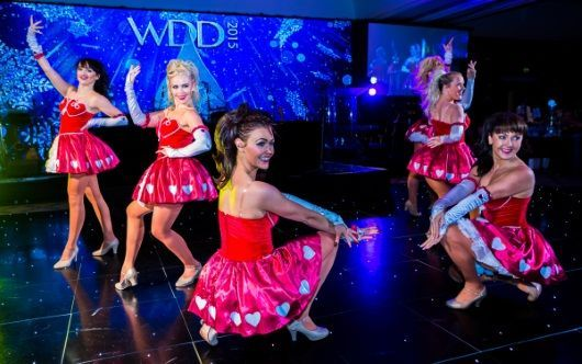 Scottish Rockettes perform at Digby Brown Winter Dinner Dance 2015 for Spinal Injuries Scotland