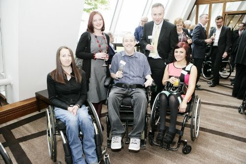 Guests at the pre-lunch reception for the Spinal Injuries Scotland (SIS) awards 2012