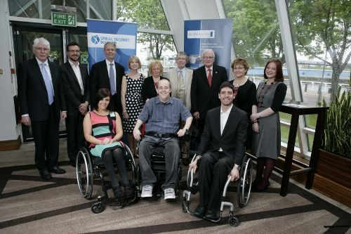 SIS Awards Winners with Digby Brown, David Allen and John Clark, Chair, SIS