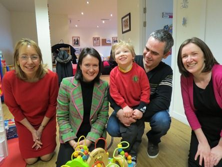 Photo showing Sue Grant, Stephanie Fraser, Kieran Allan and his Dad, Kieran Allan, Ruth Kelliher