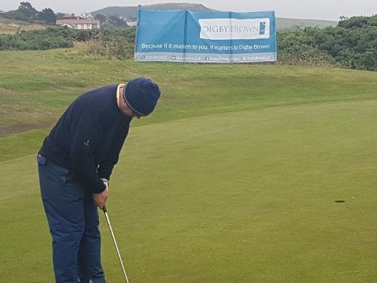 Damian White, Partner and Head of Digby Brown Ayr at Ayrshire Hospice Golf Day
