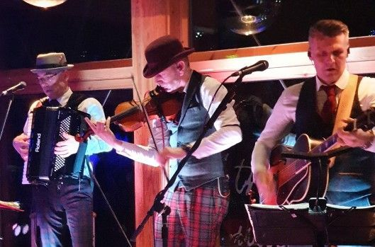 Ceilidh band performing at Ayr Office Burns Supper fundraiser 2020