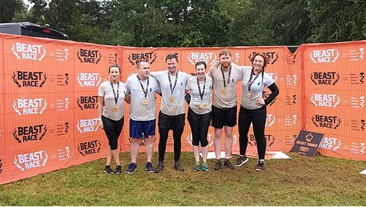 Inverness Office 'after pic' at Beast Race 2019