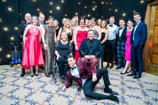 Des Clarke with guests at Winter Dinner Dance 2019