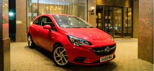 Prize draw car for Winter Dinner Dance 2019 outside DoubleTree Hotel, Cambridge Street