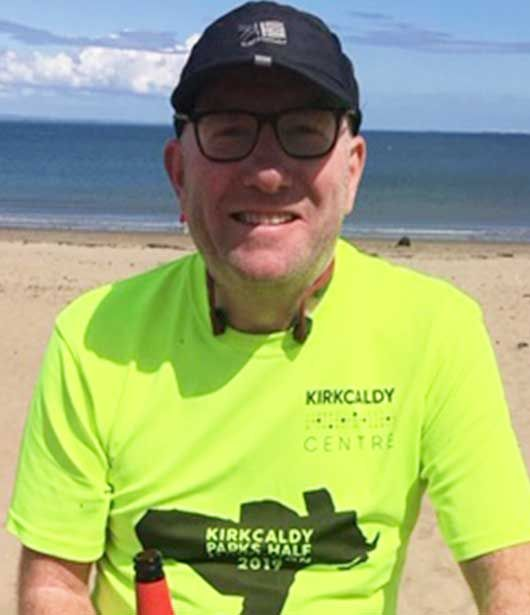 Innes from Kirkcaldy office taking part in Charity Challenge