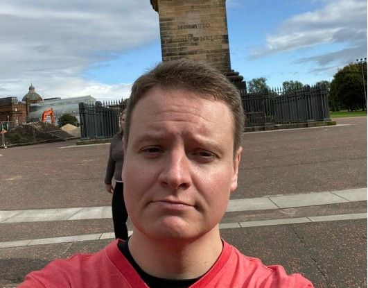 David Hendrie doing the virtual Kiltwalk